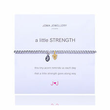 Joma Jewellery 'a little strength' silver plated bracelet acorn charm & gift bag