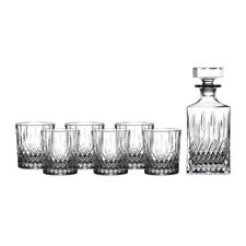 Royal Doulton Earlswood Whiskey Decanter & Tumblers, Set/6
