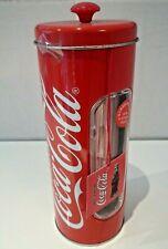 More details for coca cola straw holder tin dispenser inc 50 straws (new & sealed) american diner
