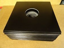 "25 CARDBOARD OUTER COVER SLEEVES BLACK WITH CENTERHOLE FOR LP'S OR 12"" RECORDS"