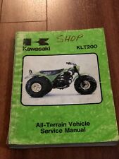 1981 Kawasaki Klt200 Atv Service Shop Repair Manual 99963-0037-01 Free Shipping (Fits: Kawasaki)