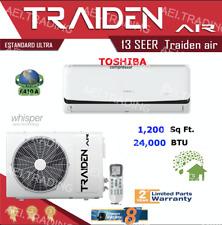 24000 BTU Ductless Air Conditioner, Heat Pump Mini Split 220V: 2TON