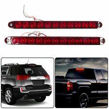 "2 x 15"" 11 LED Red Sealed Trailer Truck&RV Stop Tail Rear Brake Turn Light Bar"