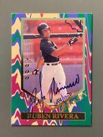 1995 Signature Rookies #FD4 Ruben Rivera Auto Rookie /1050