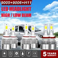 Combo CREE LED Headlight Kit 9005+H11+9006 6000K 3900W 585000LM Lamps Bulbs Nice
