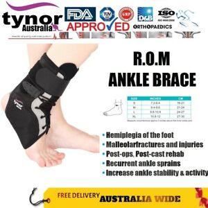 Tynor® ROM Ankle Brace Stabilizer Post-Ops Sprains Hemiplegia Rigid Support Run