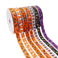 5Yards Halloween Grosgrain Ribbon Festival Cartoon Trim DIY Hairbows Party Decor