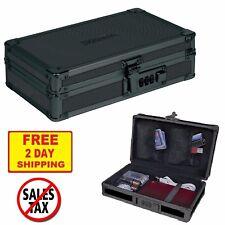 Combination Lock Case Security Box Cash Jewelry Money Gun Portable Black Safe