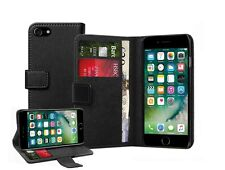 Genuine Leather Black Wallet Flip Case Cover For Apple iPhone 8 PLUS + 2 FILMS