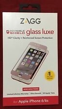 Zagg Invisible Shield Glass Luxe fits iPhone 6 / 6s - Rose Gold