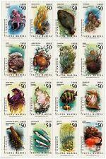 Chile 1991 #1522-37 Flora y Fauna Marina MNH