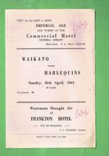 #Vv1. Rugby Union Program - Waikato V Harlequins 26th April 1964