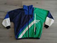 Vintage Retro 90s Adidas Track Top Blue, Green &White - XL - VGC