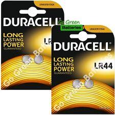 4 x Duracell LR44 1.5V Alkaline Button Cell Batteries LR 44 A76 AG13 357 SR44