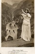 Lead, Kindly Light - Bamforth Song Card - 1905 Original Postcard (LA)
