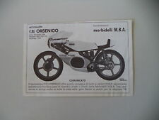 advertising Pubblicità 1978 MOTO MORBIDELLI MBA 125