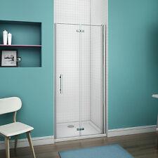 Aica 1000 Frameless Bi Fold Hinge Shower Door Enclosure Walk in 6mm Glass Screen