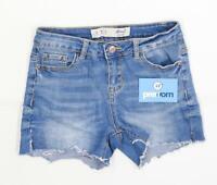 Womens Denim Co Blue Cotton Blend Shorts Size 6/L3