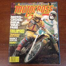 JANUARY 1980  MOTOCROSS ACTION BOB HANNAH HUSQVARNA  250 CR KX RM YZ VINTAGE IT