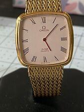 Antique Goods Omega De Ville Hand-Rolled Gold Square Mens Watches Genuine Belt