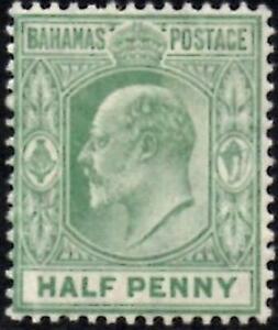 Bahamas 1906 KEVII  1/2d Pale Green  SG.71 Mint (Hinged)   Wmk Multi Crown CA