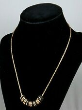 Robert Lee Morris Gold Plated Dark Brown Disc Beads Beaded Necklace $48