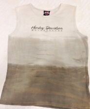 Harley Davidson Sleeveless Pullover Shirt Alamo San Antonio Beige USA C703