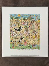 """James Rizzi: original 2D """"SOMETIMES IT'S THE SAND"""", Tweety, Sylvester, 1995"""