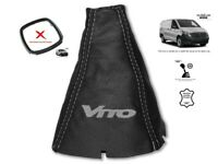 Gear Stick Gaiter For Mercedes Vito W447 2014+ Leather Grey Embroidery