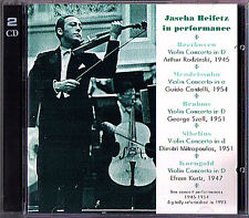 HEIFETZ Live 1945-1954 Korngold Brahms Mendelssohn Sibelius MUSIC & ARTS 2CD