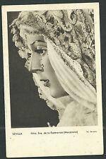 Postal antigua Virgen de la Macarena andachtsbild santino holy card santini