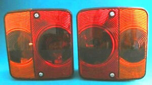 2 x RADEX 4 Function Rear Small Lamp Lights for Horsebox & Trailer
