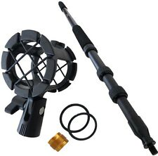 KEEPDRUM MPB01 Boompole PRO 3m Tonangel + PCMH1 Mikrofon-Spinne