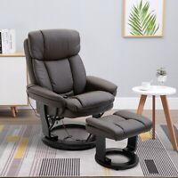 Massage Sofa Recliner Chair w/ Footrest 10 Vibration Point Brown
