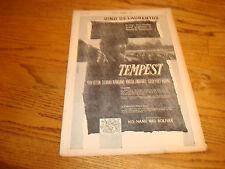 TEMPEST 1958 Oscar ad with Dino De Laurentiis with Van Heflin, Silvana Mangana
