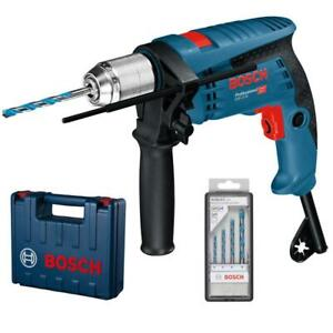 Bosch Schlagbohrmaschine GSB 13 RE inkl. 4 Bohrer und Koffer, 600 Watt