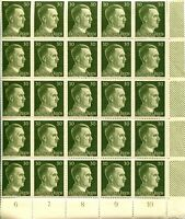 GERMANY Sc# 519 Corner Block of 25 Stamps Postage WWII Adolf Hitler Mint NH OG