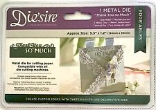 CRAFTERS COMPANION DIE'SIRE METAL DIES ~EDGE'ABLES THANK YOU SO MUCH
