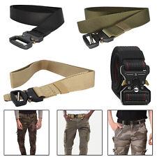Cinta de nylon Estilo Militar Para Hombre Cintura Cinturón Hebilla de liberación rápida ejército Táctica