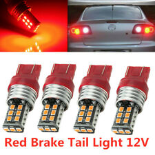 RED [4 PACK] 7443 T20 7444 W21W SMD LED Tail Brake Stop Parking Light Bulbs Lamp