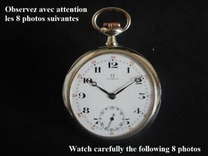 1915 Ambitious Omega De poche Steel Dial Email Very Good Condition Calibre 19''