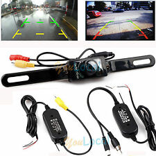7 LED CMOS Rear View Reverse 2.4G Car Backup Parking Camera Night Vision Wireles