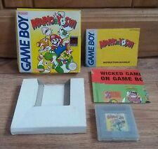 Mario And Yoshi Gameboy Game.Cart,Box,Manual & Flyer.Vintage 90s Toy Games Retro