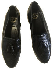 Florsheim Comfortech Mens 8 D BLACK Leather Loafers SHOE Special Classic Design