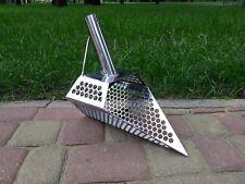 Nuevo Modelo arena cuchara detector de metales agujero de acero inoxidable 2mm 9mm