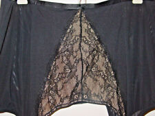 Lane Bryant Cacique black wide garter belt lacy front hook eye sisy-22/24 3X-NEW