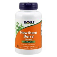NOW Foods Hawthorn Berry 540 mg, 100 Veg Capsules