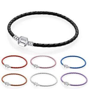 NEW Braided Rope Leather Friendship Wristband Charm String Bracelet Punk Unisex