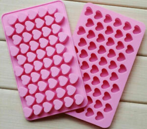 55 Silicone Mould Heart Shape Chocolate Candy Jelly Tray Cake  LOVE Decoration