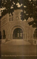 Stanford University CA Physics Bldg c1910 Postcard